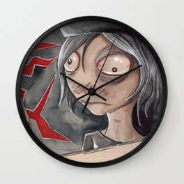 Hangman flinches Wall Clock