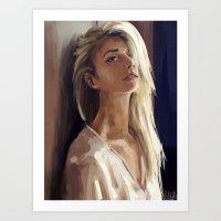 young girl portrait 5 Art Print