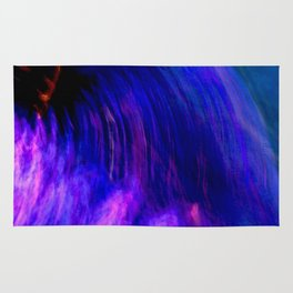 Abstract Purple Mist With A Dash Of Orange Rug