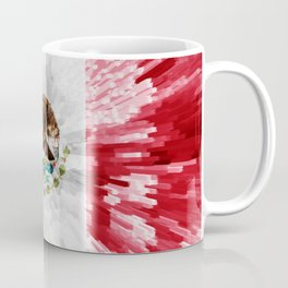 Extruded Flag of Mexico Coffee Mug