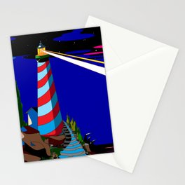 A Night at the Lighthouse with Search Light Active Stationery Cards