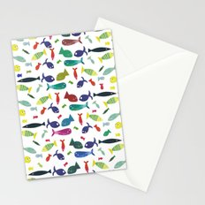 Happy colourful fish  Stationery Cards