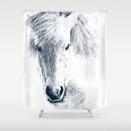 Cute Ponyface Shower Curtain