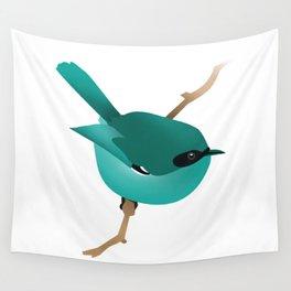 Little Blue Bird Wall Tapestry