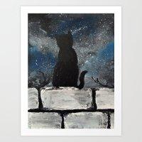 Twinkle Twinkle Little Cat Art Print