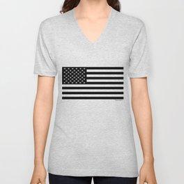 Hashtag American Flag Unisex V-Neck