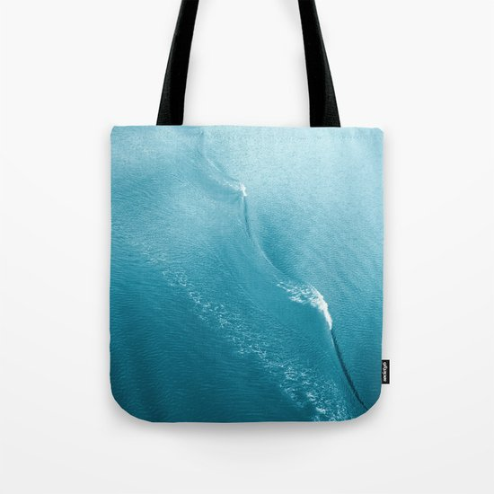 Ripple in Time (aqua) Tote Bag