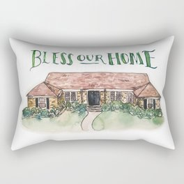 Custom House Painting Rectangular Pillow