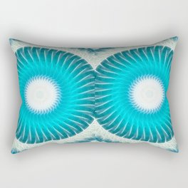 Cyan Glow Kaleidoscope 7 Rectangular Pillow