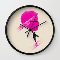 drive Wall Clocks featuring Drive by Ian Wilding