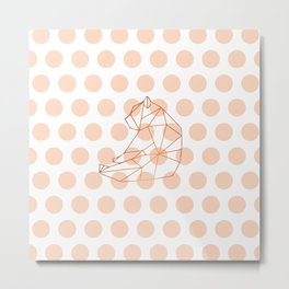 Geometric bear Metal Print