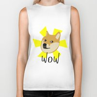 doge Biker Tanks featuring Doge by Subtle Tee