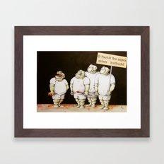 Show of Strength Framed Art Print