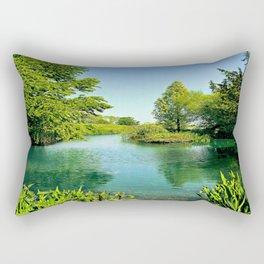 Aqua Lake Rectangular Pillow