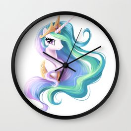 Beautiful unicorn drawing Wall Clock