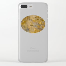 Caught between a rock and a hard place Clear iPhone Case