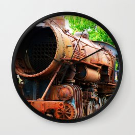 Rusted Steam Engine Wall Clock