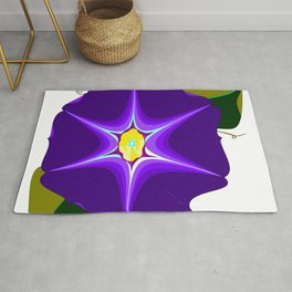 A Large Purple Morning Glory, Wildflower Series Rug