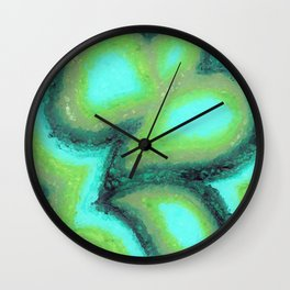 Twisted Green Wall Clock