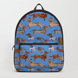 Dachshunds – Cornflower Blue Palette Backpack