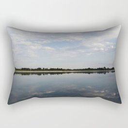 Reflections on the river Rectangular Pillow