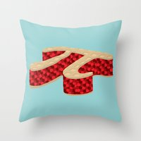 pi Throw Pillows featuring Pi Pie by Rryan