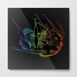 Bee of life Metal Print