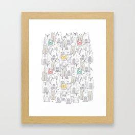 Doodle Cats Framed Art Print