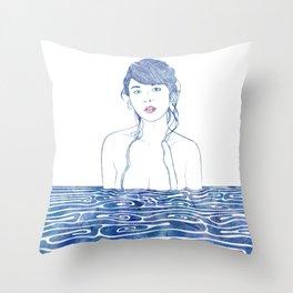 Water Nymph LXXI Throw Pillow