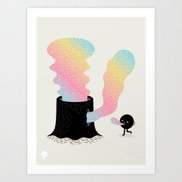 Magic Stump Art Print