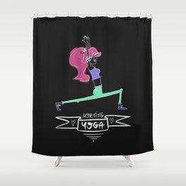 Morning Yoga Shower Curtain