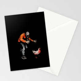 Leroy VS The Zombie Chicken Stationery Cards