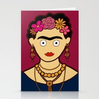 frida kahlo Stationery Cards featuring Frida Kahlo by evannave