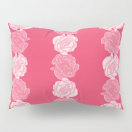 Abstract Rose Vertical Band Pattern Pillow Sham