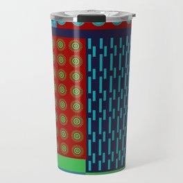 Japanese Style Colorful Patchwork Travel Mug