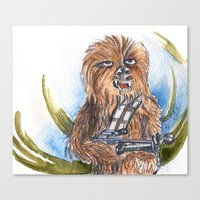 chewbacca Canvas Prints featuring Chewbacca by Alejandra Dirzo