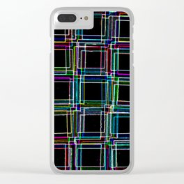 Neon Staircase Clear iPhone Case