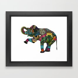 asian elephant white Framed Art Print