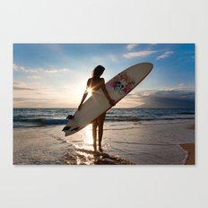 Surfer Girl Canvas Print