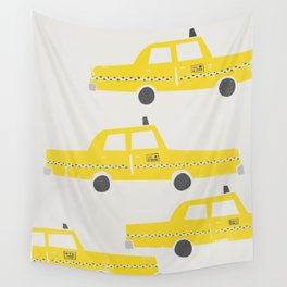 New York Taxicab Wall Tapestry