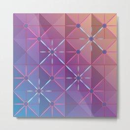 Pink Lattice Metal Print