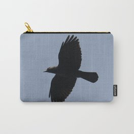 Jackdaw In Flight Carry-All Pouch