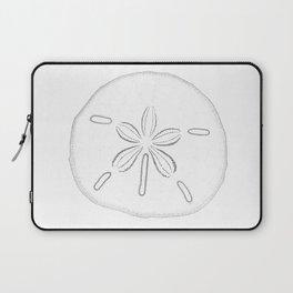 Sand Dollar Blessings - Black on White Pointilism Art Laptop Sleeve