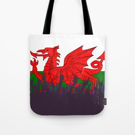 Welsh Flag with Audience Tote Bag