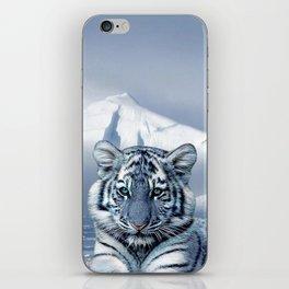 Blue White Tiger iPhone Skin