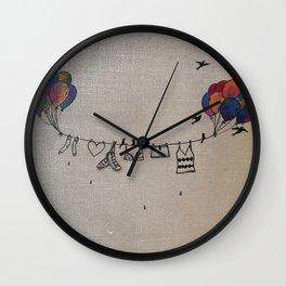 Clothes line |2 Wall Clock