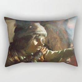 The little beggar Rectangular Pillow