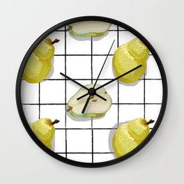A Pair of Pears Wall Clock
