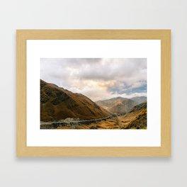 Andean Road Framed Art Print