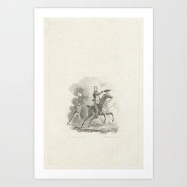 Prins van Oranje te paard, 1815, Jacob Ernst Marcus, 1816 Art Print